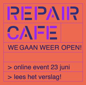 REPAIR CAFE'S WEER OPEN